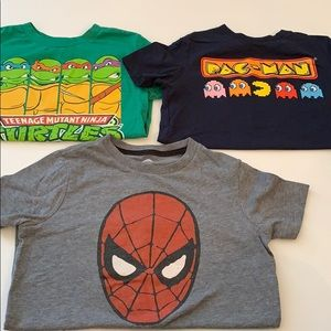 (3) boys size small tee shirts